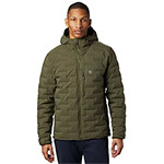 Mountain Hardwear - Doudoune Homme Super DS StretchDown Hooded Jacket Dark Army