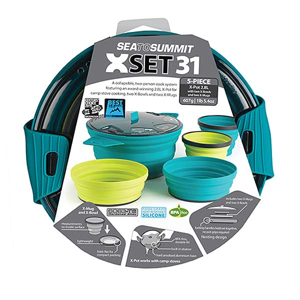 Sea to summit -  X-Set 31 (un X-Pot 2,8 L + deux X-Mug + deux X-Bowl)