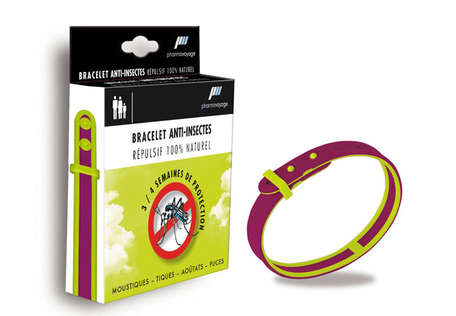 PharmaVoyage - Bracelet anti-insecte naturel