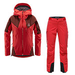 Haglöfs - Ensemble femme L.I.M Touring PROOF Veste + Pantalon (Hibiscus red/maroon red)