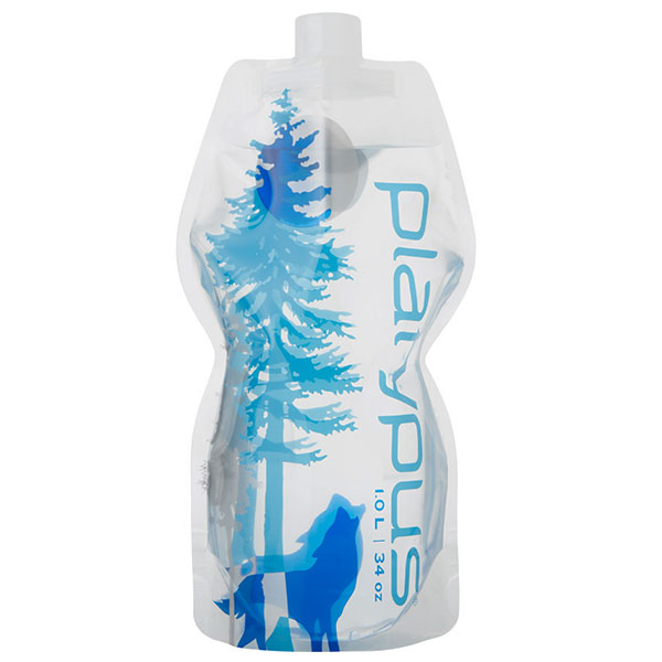 Platypus - Bouteille flexible SoftBottle 1L Closure Cap Wild Blue