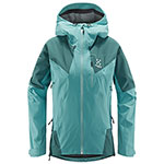 Haglöfs - Veste femme L.I.M Touring PROOF (Glacier green/willow green)
