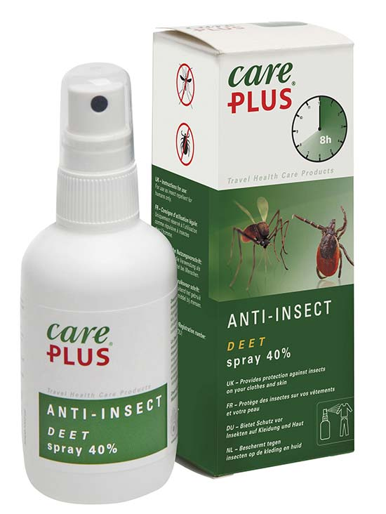 Care Plus - Spray Anti-Insectes Deet 40% (60 ml)